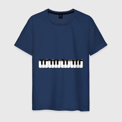 Мужская футболка хлопок Хор пингвинов Антарктида