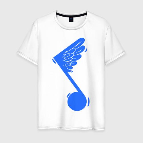 Мужская футболка хлопок Крылатая нота