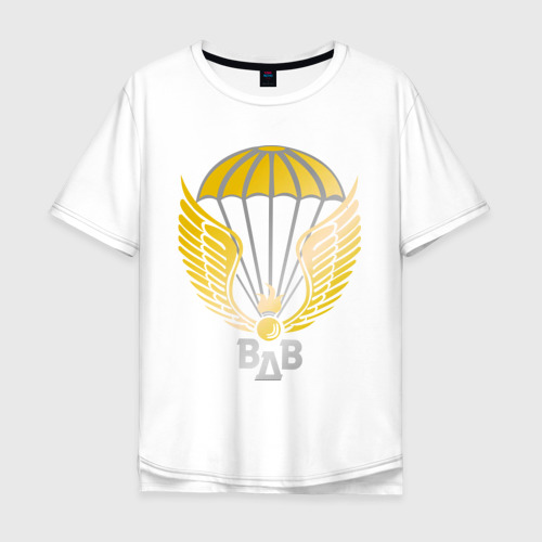 Мужская футболка хлопок Oversize Парашют с крыльями