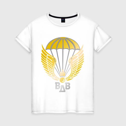 Женская футболка хлопок Парашют с крыльями