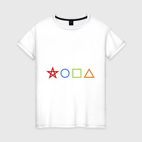 Женская футболка хлопок Жопа геометрическая
