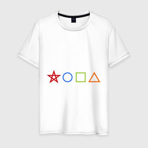 Мужская футболка хлопок Жопа геометрическая