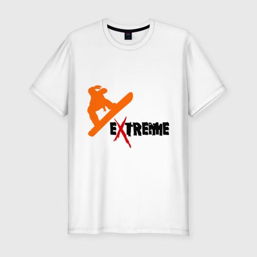 Мужская футболка хлопок Slim Сноу экстрим