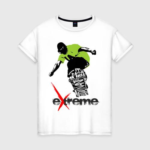 Женская футболка хлопок Экстрим
