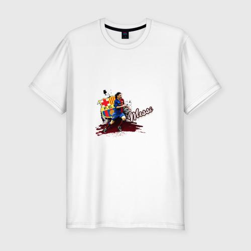 Мужская футболка хлопок Slim Messi 3