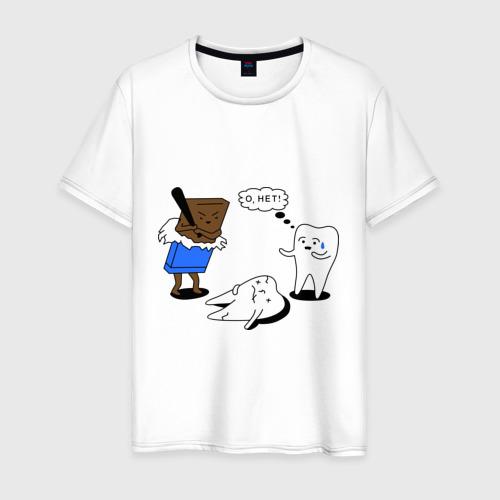 Мужская футболка хлопок Шоколад и зубы