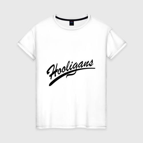 Женская футболка хлопок Hooligans