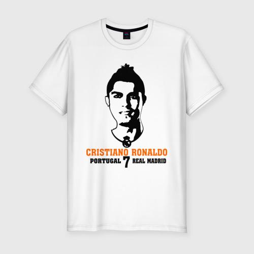 Мужская футболка хлопок Slim Cristiano Ronaldo 7