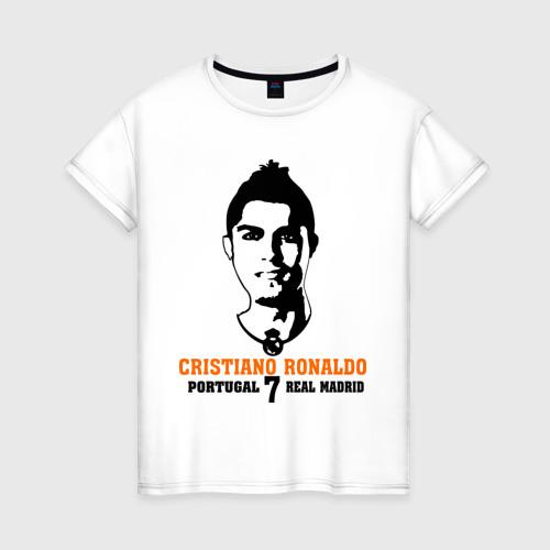 Женская футболка хлопок Cristiano Ronaldo 7
