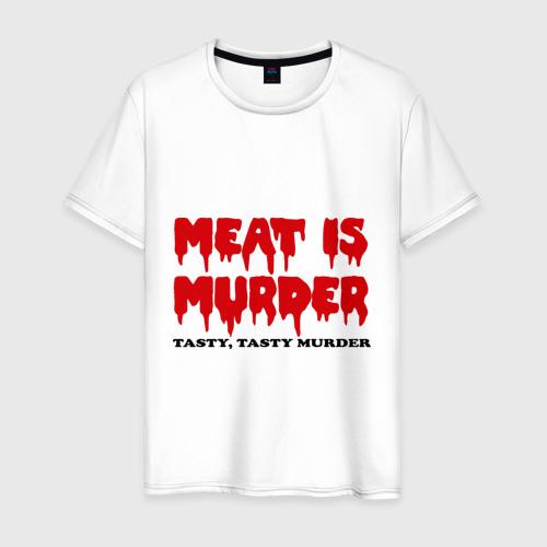 Мужская футболка хлопок Мясо это вкусное убийство