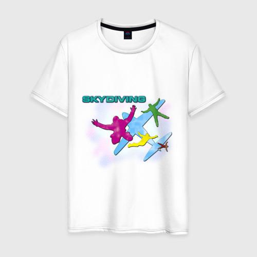 Мужская футболка хлопок SkyDiving принт