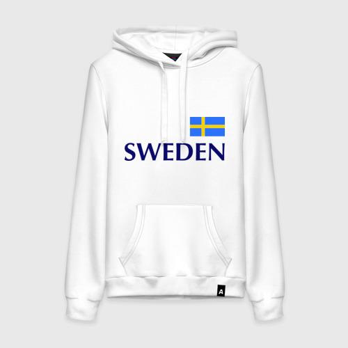 Женская толстовка хлопок Сборная Швеции - 10