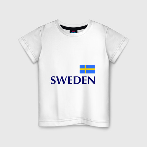 Детская футболка хлопок Сборная Швеции - 10