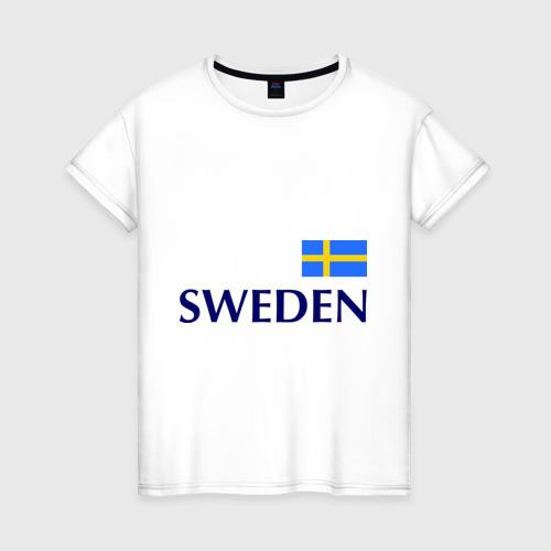 Женская футболка хлопок Сборная Швеции - 10