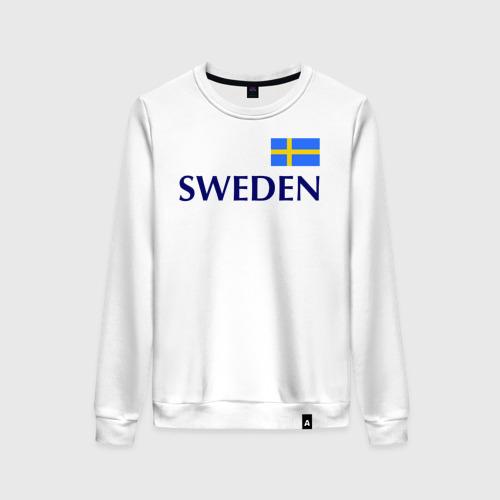Женский свитшот хлопок Сборная Швеции - 10