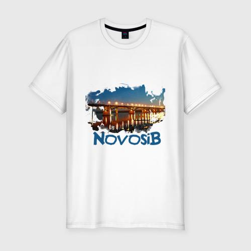 Мужская футболка хлопок Slim Novosib print