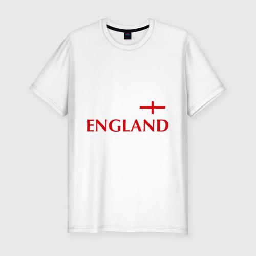 Мужская футболка хлопок Slim Сборная Англии - 10