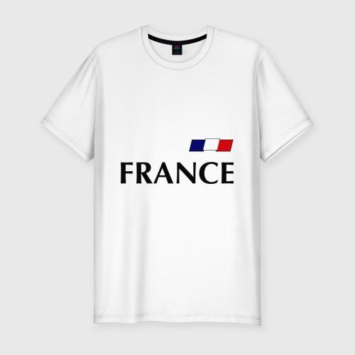 Мужская футболка хлопок Slim Сборная Франции - 8