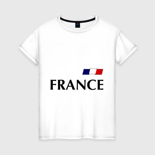Женская футболка хлопок Сборная Франции - Бензима 10 (Benzima)