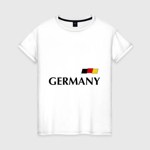Женская футболка хлопок Сборная Германии - 10