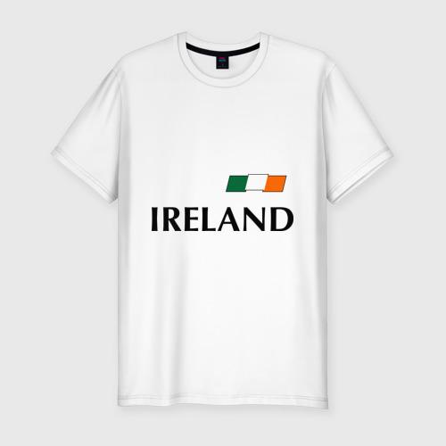 Мужская футболка хлопок Slim Сборная Ирландии - 7