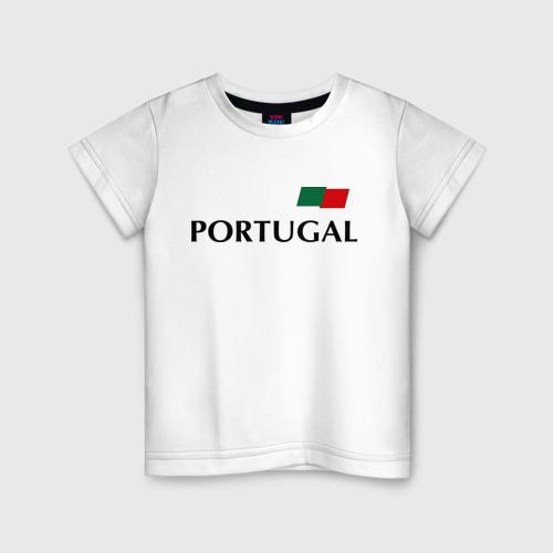 Детская футболка хлопок Сборная Португалии - Криштиану Роналду 7
