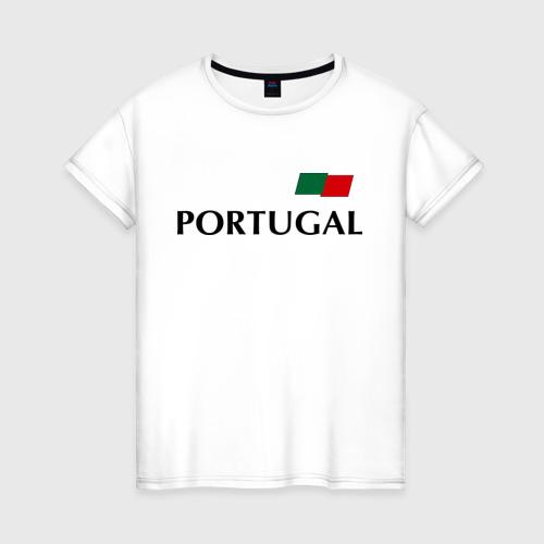 Женская футболка хлопок Сборная Португалии - Криштиану Роналду 7
