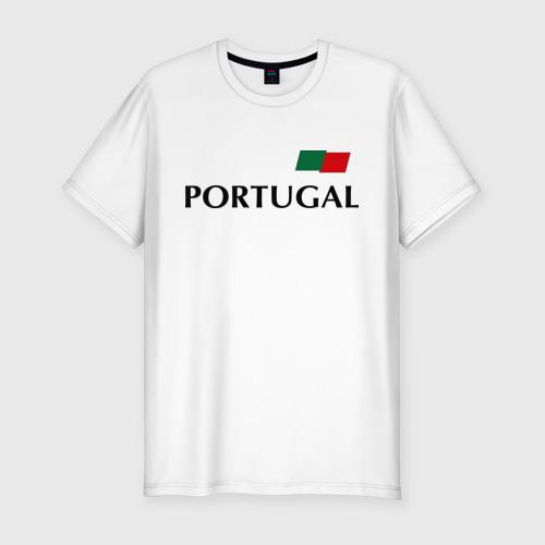 Мужская футболка хлопок Slim Сборная Португалии - Криштиану Роналду 7