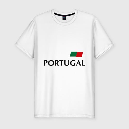 Мужская футболка хлопок Slim Сборная Португалии - 10