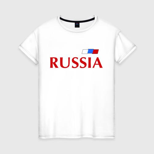 Женская футболка хлопок Сборная России - 9