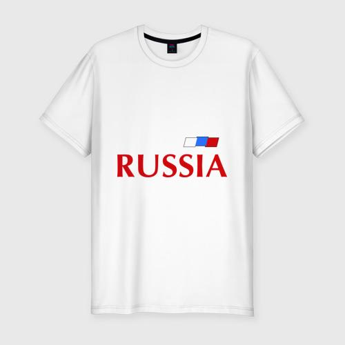 Мужская футболка хлопок Slim Сборная России - Александр Кержаков 11