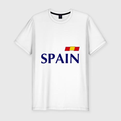 Мужская футболка хлопок Slim Сборная Испании - Хави 8