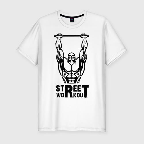 Мужская футболка хлопок Slim Street Workout K