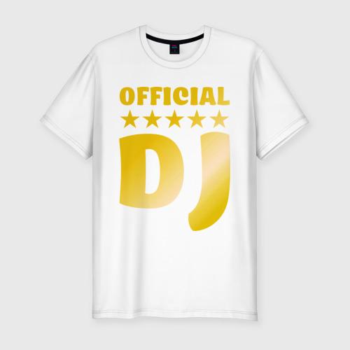 Мужская футболка хлопок Slim Official DJ золото