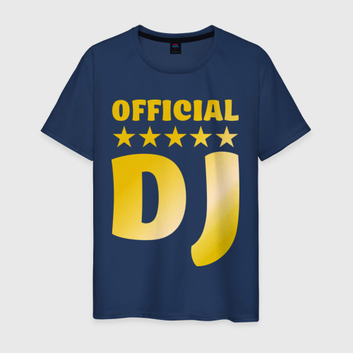 Мужская футболка хлопок Official DJ золото