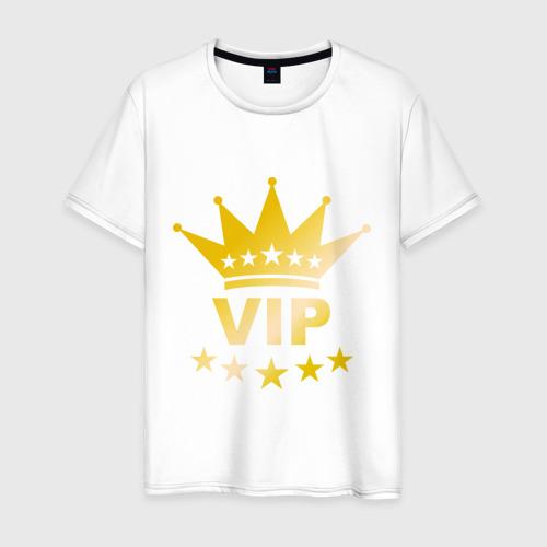 Мужская футболка хлопок VIP золото