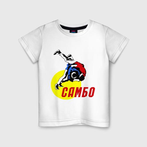 Детская футболка хлопок спорт самбо