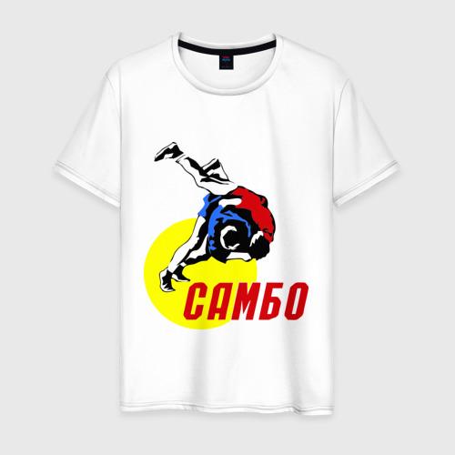 Мужская футболка хлопок спорт самбо