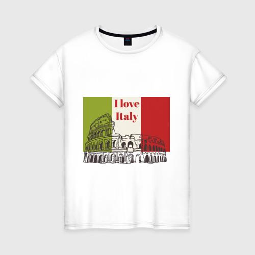 Женская футболка хлопок Я love Италия