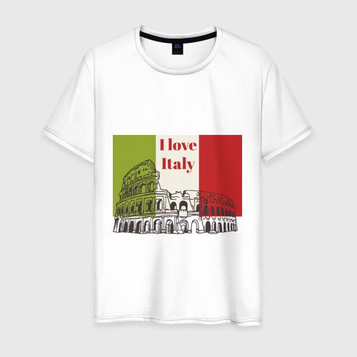 Мужская футболка хлопок Я love Италия
