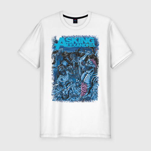 Мужская футболка хлопок Slim Asking Alexandria зомби