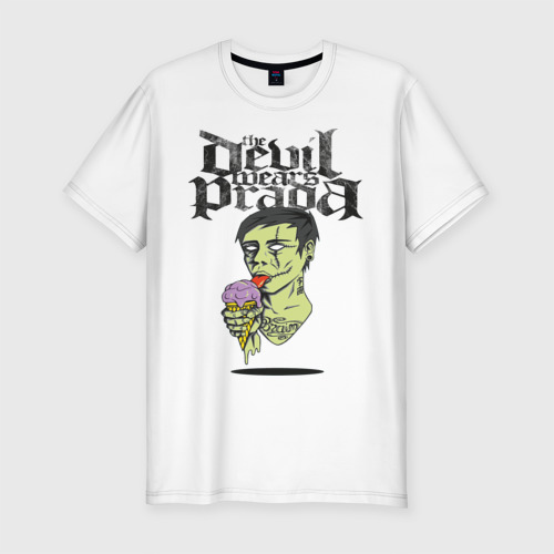 Мужская футболка хлопок Slim the devil wears prada