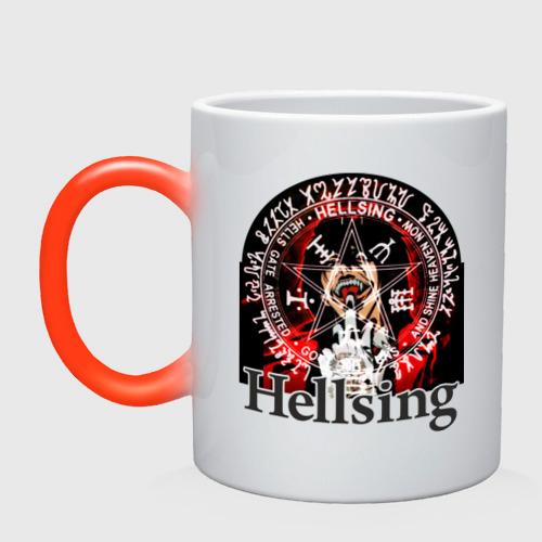 Кружка хамелеон Hellsing  символ Алукарда