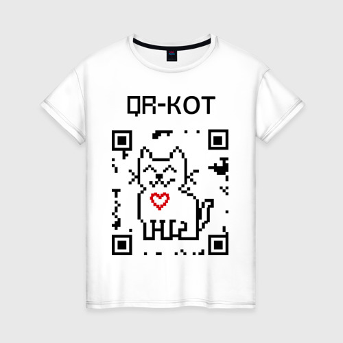 Женская футболка хлопок QR-code-kote