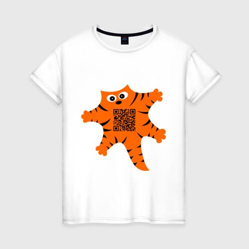Женская футболка хлопок Почеши мне пузико