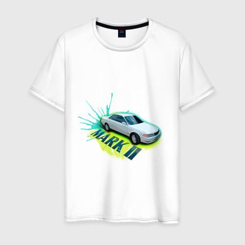 Мужская футболка хлопок toyota mark2 белая