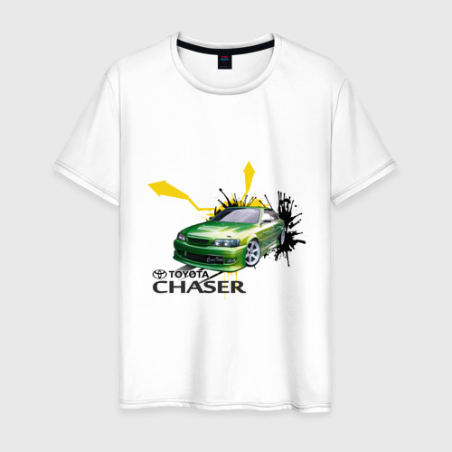Мужская футболка хлопок toyota chaser зеленая