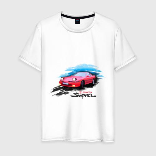 Мужская футболка хлопок toyota supra красная