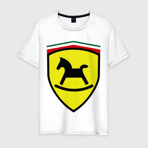 Мужская футболка хлопок Ferrari (детский вариант)