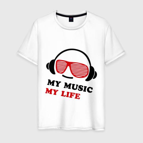 Мужская футболка хлопок My music my life